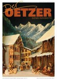Gemeindebote 2011 (9,87 MB) - Gemeinde Oetz - Land Tirol
