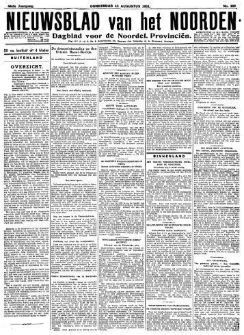 Nieuwsblad van het Noorden - Koninklijke Bibliotheek