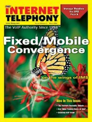 Internet Telephony March 2006 - Internet Telephony Magazine ...