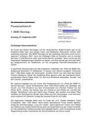 BMW Renntag am Sonntag, 23. September 2007 - Badischer ...