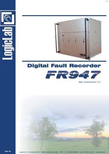 Digital Fault Recorder - LogicLab srl