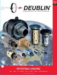 Engineered for Performance - Deublin Company