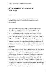 DIC Asset HV 2011 - Rede - DIC Asset AG