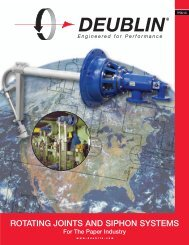 ROTATING JOINTS AND SIPHON SYSTEMS - Deublin Company