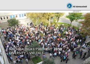 NACHHALTIGKEITSBERICHT 2010 DIVERSITY ... - HTL Donaustadt