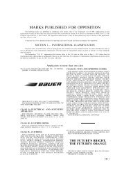 marks published for opposition - U.S. Patent and Trademark Office