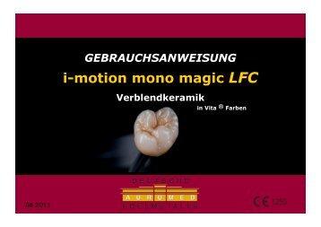 GEBRAUCHSANWEISUNG i-motion mono magic LFC ...