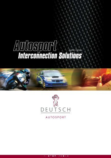 Autosport Interconnection Brochure - TE Connectivity