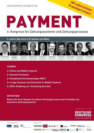 7. Kongress für Zahlungssysteme und Zahlungsprozesse - Deutsche ...