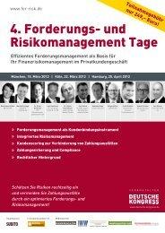 4. Forderungs- und Risikomanagement Tage - Deutsche Kongress