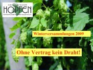 Hopfenpflanzerverband Hallertau eV - Hopfenpflanzerverbandes ...