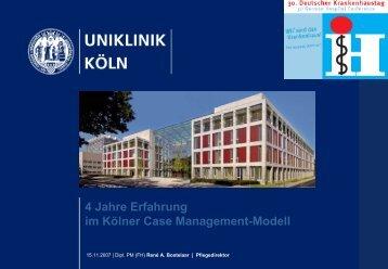 4 Jahre Erfahrung im Kölner Case Management-Modell