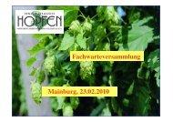 Hopfenpflanzerverband Hallertau eV - Verband Deutscher ...