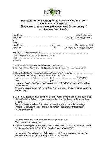 Arbeitsvertrag Zweisprachig Deutsch Rumänisch