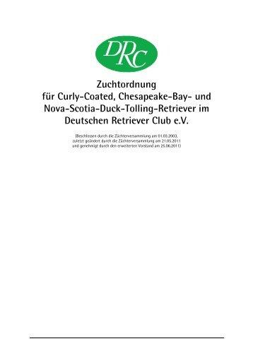 Zuchtordnung für Curly-Coated, Chesapeake-Bay - Deutscher ...