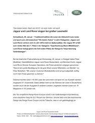 Jaguar und Land Rover siegen bei großer ... - Autohaus Henke