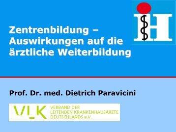 Prof. Dr. Dietrich Paravicini