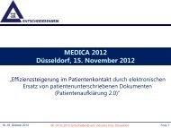 Effizienzsteigerung im Patientenkontakt durch elektronischen Ersatz ...