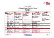 Referenzliste Hans Mayer Bauunternehmung GmbH