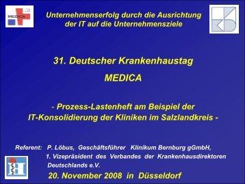 31. Deutscher Krankenhaustag MEDICA