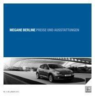 MEGANE BERLINE PREISE UND AUSSTATTUNGEN - Renault
