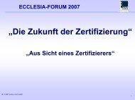 Die Zukunft der Zertifizierung - Gesellschaft Deutscher ...