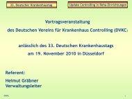 33. Deutscher Krankenhaustag Update Controlling in Reha ...