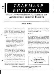 Bicycle Patrols - Bill Blackwood Law Enforcement Management ...