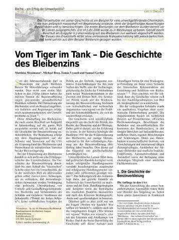 Vom Tiger im Tank – Die Geschichte des Bleibenzins - Institute of ...