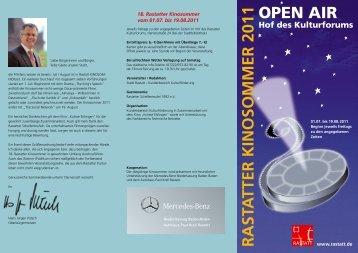 RASTA TTER KINOSOMMER 2011 OPEN AIR - Stadt Rastatt