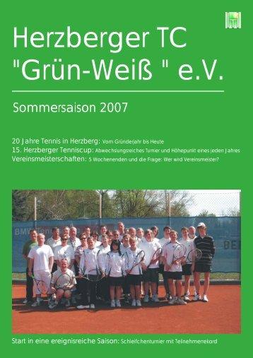 """2007 - Herzberger Tennisclub """"Grün-Weiß"""""""