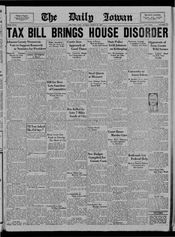 fJ - The Daily Iowan Historic Newspapers - University of Iowa