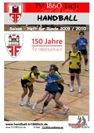 Saison-Heft 09-10-2k - TV 1860 Lich
