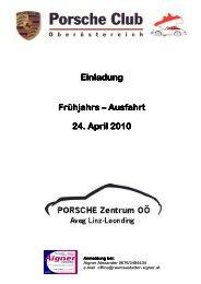 Einladung Einladung Frühjahrs Frühjahrs – Ausfahrt 24. April 2010 ...