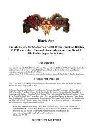Black Sun Ein Abenteuer für Shadowrun V2.01 D von ... - 3 - Welten