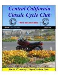 meeting (7:30pm) The Dam Diner - Central California Classic Cycle ...