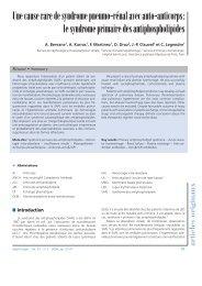 Une cause rare de syndrome pneumo-rénal avec auto-anticorps: le ...