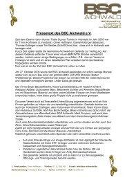Pressetext des BSC Aichwald eV