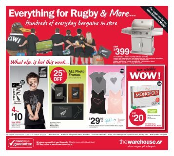 Everything for Rugby & More... - The Warehouse
