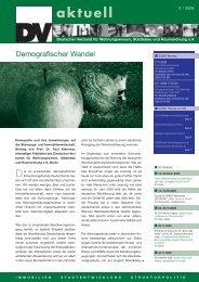 aktuell - Deutscher Verband für Wohnungswesen, Städtebau und