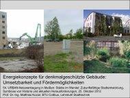 Energiekonzepte für denkmalgeschützte Gebäude: Umsetzbarkeit ...