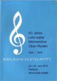 50 Jahre Lehr'scher Männerchor Ober-Roden - Auftakt