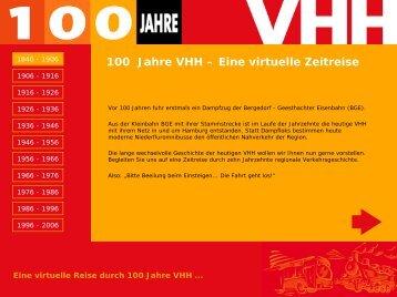 100 Jahre VHH - Verkehrsbetriebe Hamburg-Holstein