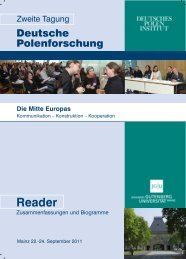 Reader - Deutsches Polen Institut