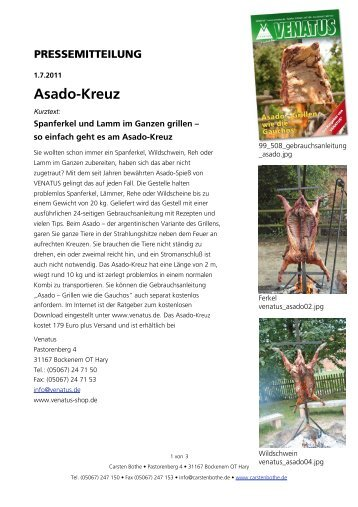 Asado[Kreuz - Carsten Bothe