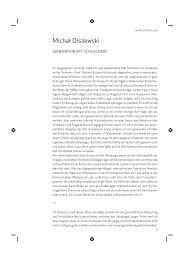 Michał Olszewski - Deutsches Polen Institut