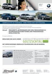 GEBRAUCHTE AUTOMOBILE – EINE FRAGE DES VERTRAUENS.