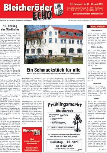 23.04.2011 Rabatt auf ALLES - Nordhäuser Wochenchronik