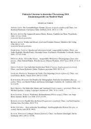 Polnische Literatur in deutscher Übersetzung 2010 - Deutsches ...