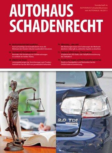 Autohaus - Schadenrecht